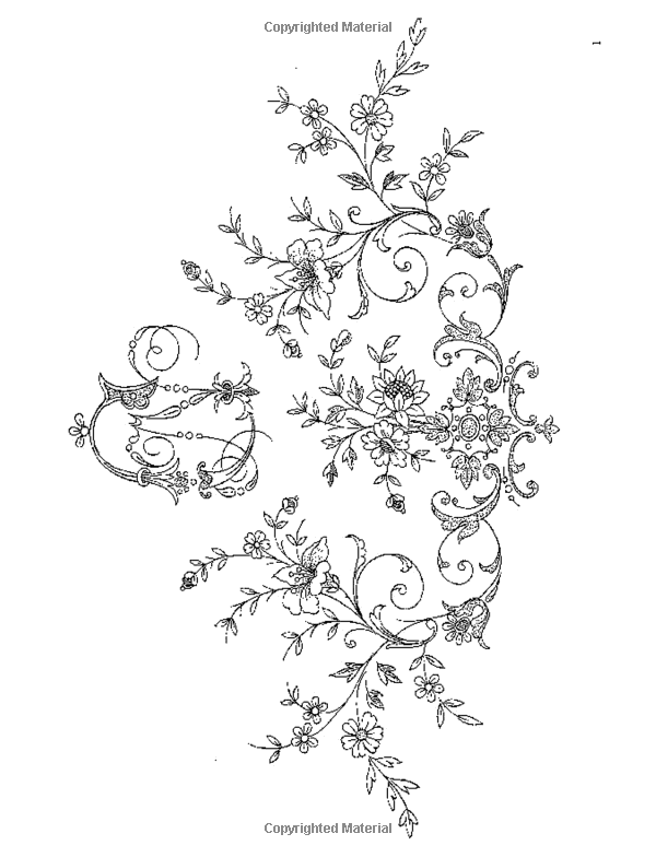 Amazon.com: Treasury of Floral Designs and Initials for