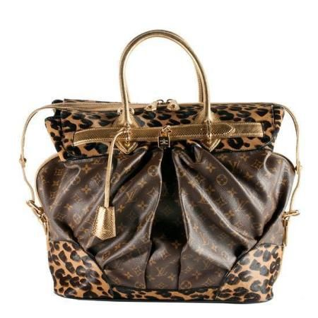 Pre Owned Louis Vuitton Limited Edition Monogram Leopard Steamer Tote Purse Brown Multi Louis Vuitton Limited Edition Louis Vuitton Vuitton