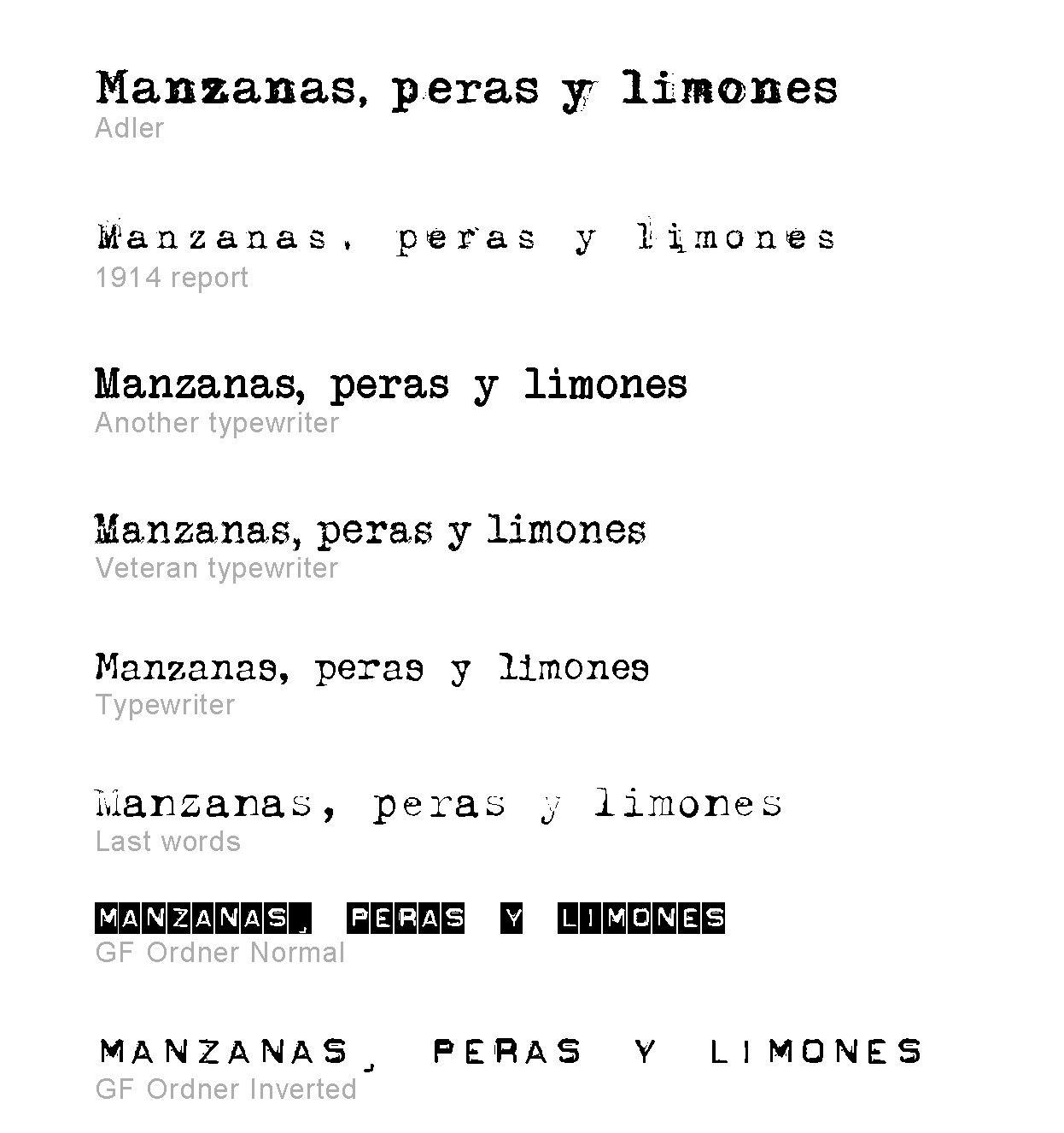 Letras De Maquina De Escribir Antigua Buscar Con Google Diseño