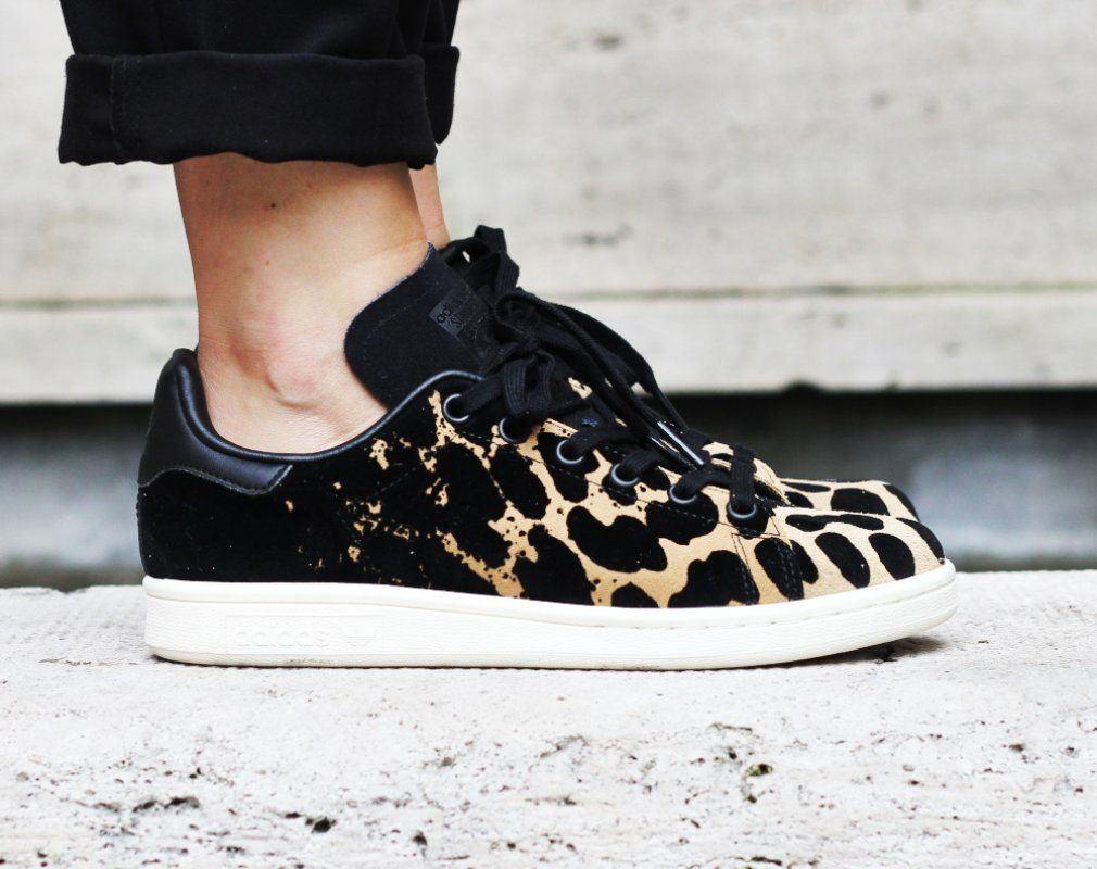 Stan Smith Leopard Black | Shoe refashion, Sneakers