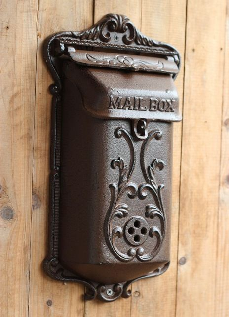 Vintage Fashion Iron Mailbox Pillar Box Wrought Iron Decoration