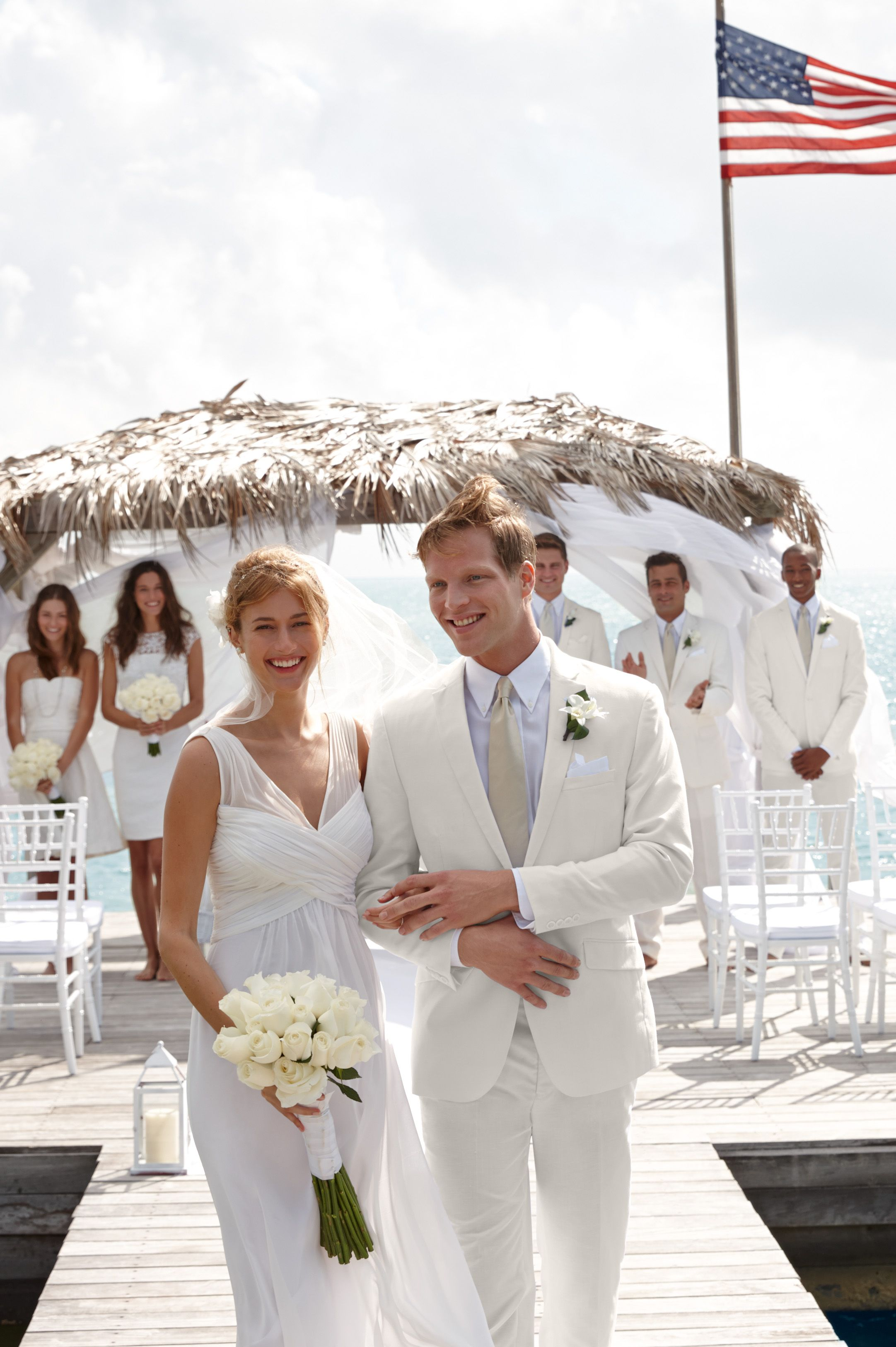 Lauren Ralph Lauren Wedding A Beautifully Breezy Wedding Gown Is Most Elegant Surrounded By Sand Sunshine And The Peo Wedding Dream Wedding All White Wedding
