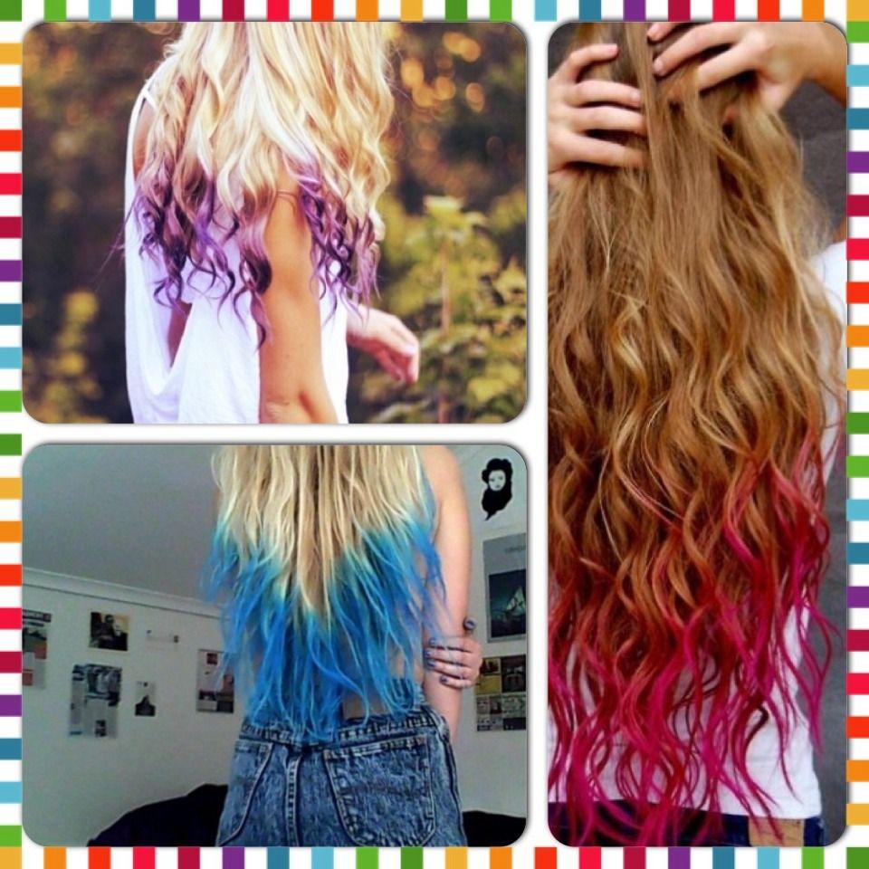 How To Dip Dye Your Hair With Kool Aid Kool Aid Hair Diy Hair Dye Dyed Hair