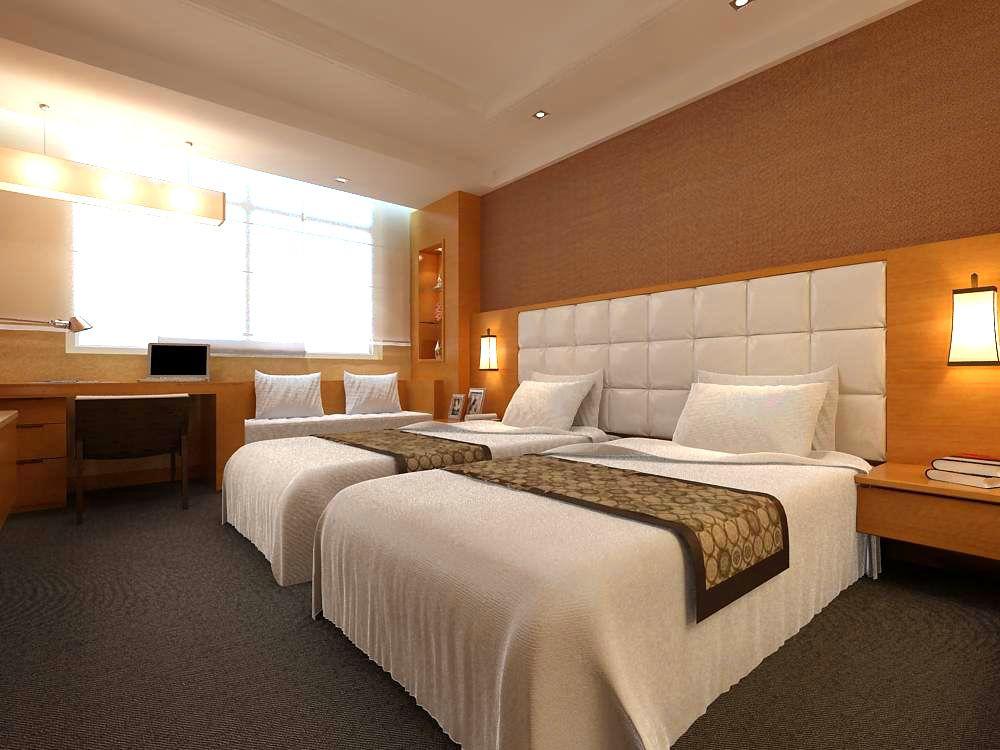 Exterior: Guest Room 006 3D Model- * Highly Detailed Hi-Tech