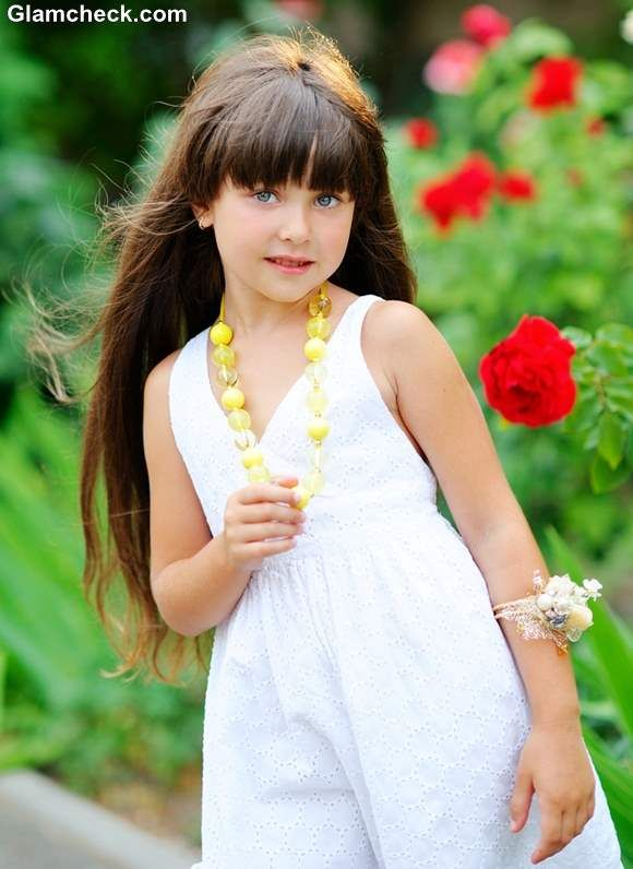 Styling Ideas For Little Girls With Long Hair And Bangs Criancas