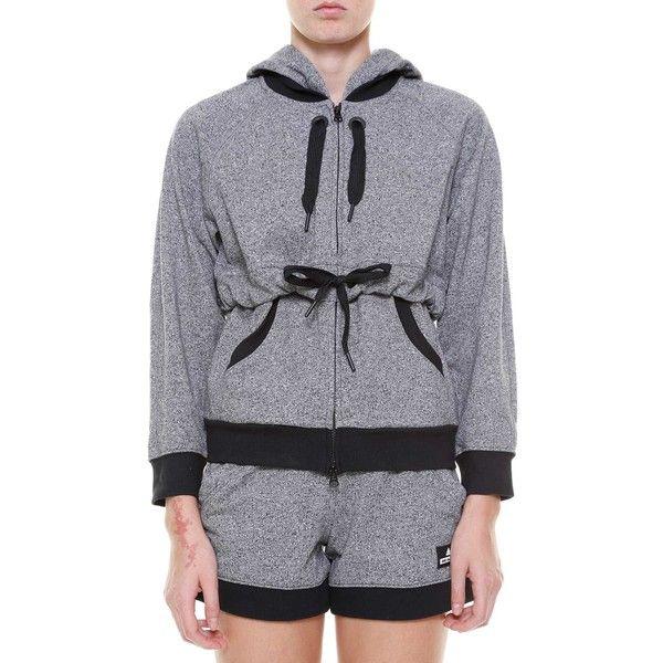 f9af9f590bce8 ADIDAS BY STELLA MCCARTNEY Ess hoodie (935 SEK) ❤ liked on Polyvore  featuring tops, hoodies, grey, grey top, grey hoodies, gray hooded  sweatshirt, ...
