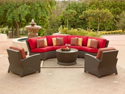 Curved Outdoor Couch Circular For Seating Round Fire Pit