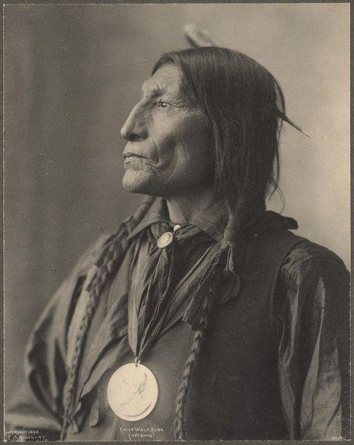 Chief Wolf Robe Cheyenne Portrait By Frank A Rhinehart 1898