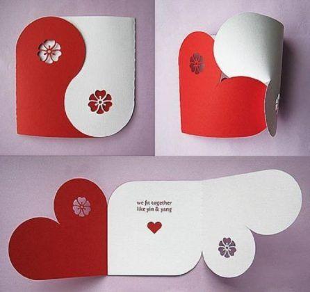 Regalos De Amor Hechos A Mano Tarjetas Creativas Manualidades Tarjeta Corazones
