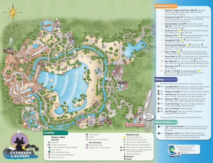 Typhoon Lagoon Map | Crowd calendar, Park resorts and Downtown disney