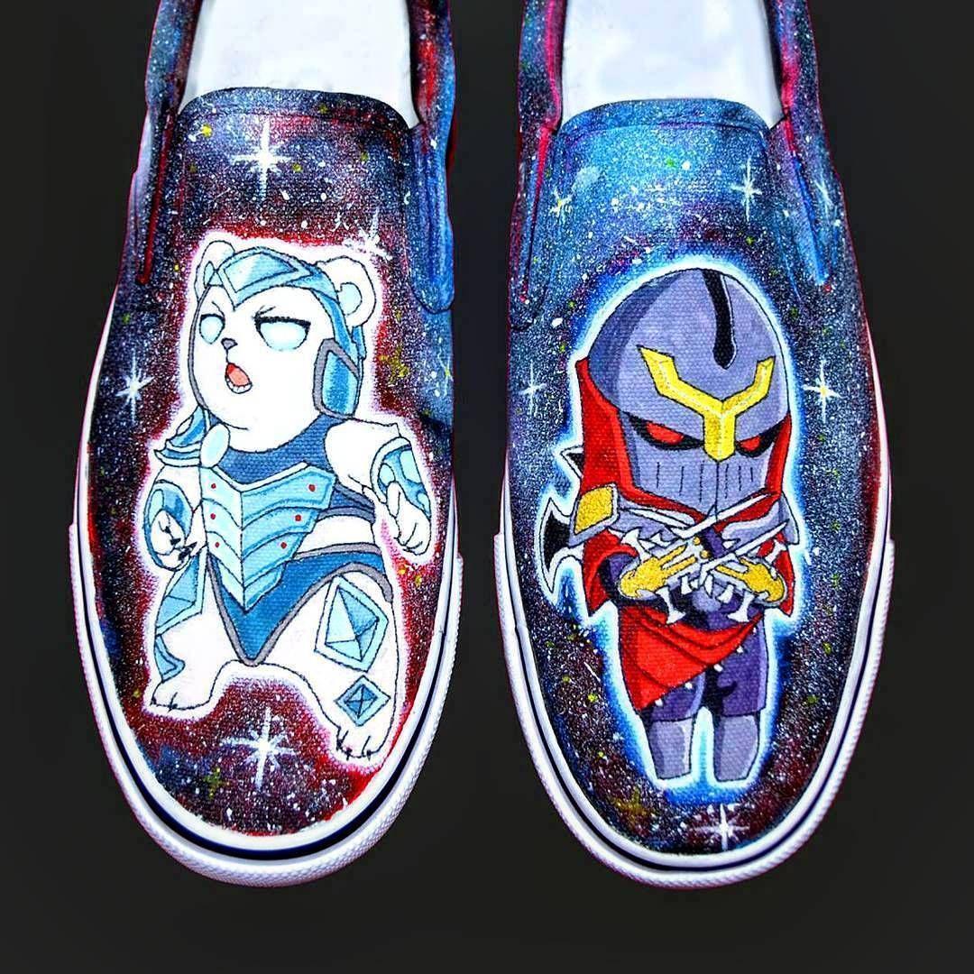 Kişiye özel Ayakkabı Ve Kıyafet Boyama Zed Vs Volibear Zed
