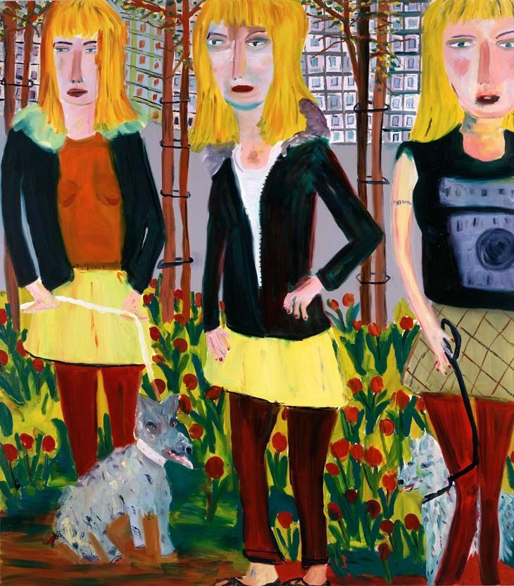 Martin Maloney Saplings 2004 Oil on canvas 244 x 213 cm