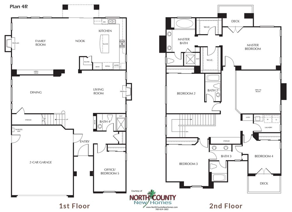 New Homes In Carlsbad Ca Single Story And Two Story New Homes Single Family Homes For Sale Floo Floor Plans New House Plans Architectural Design House Plans