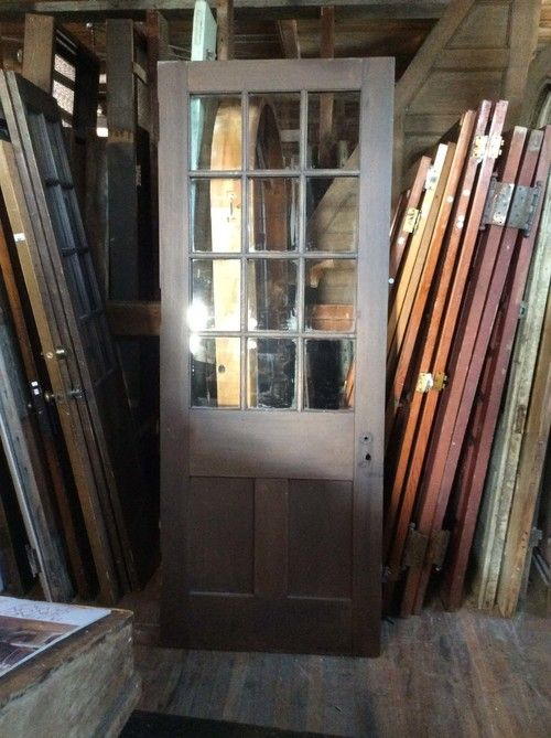 Sold Antique 12 Light Entry Door Entry Doors With Glass Modern Barn Door Entry Doors