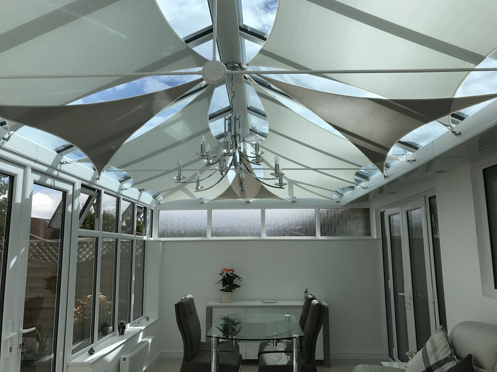 Our Shade Blinds Come In Different Colours Too Conservatory Interior Conservatory Roof Blinds Diy Shades