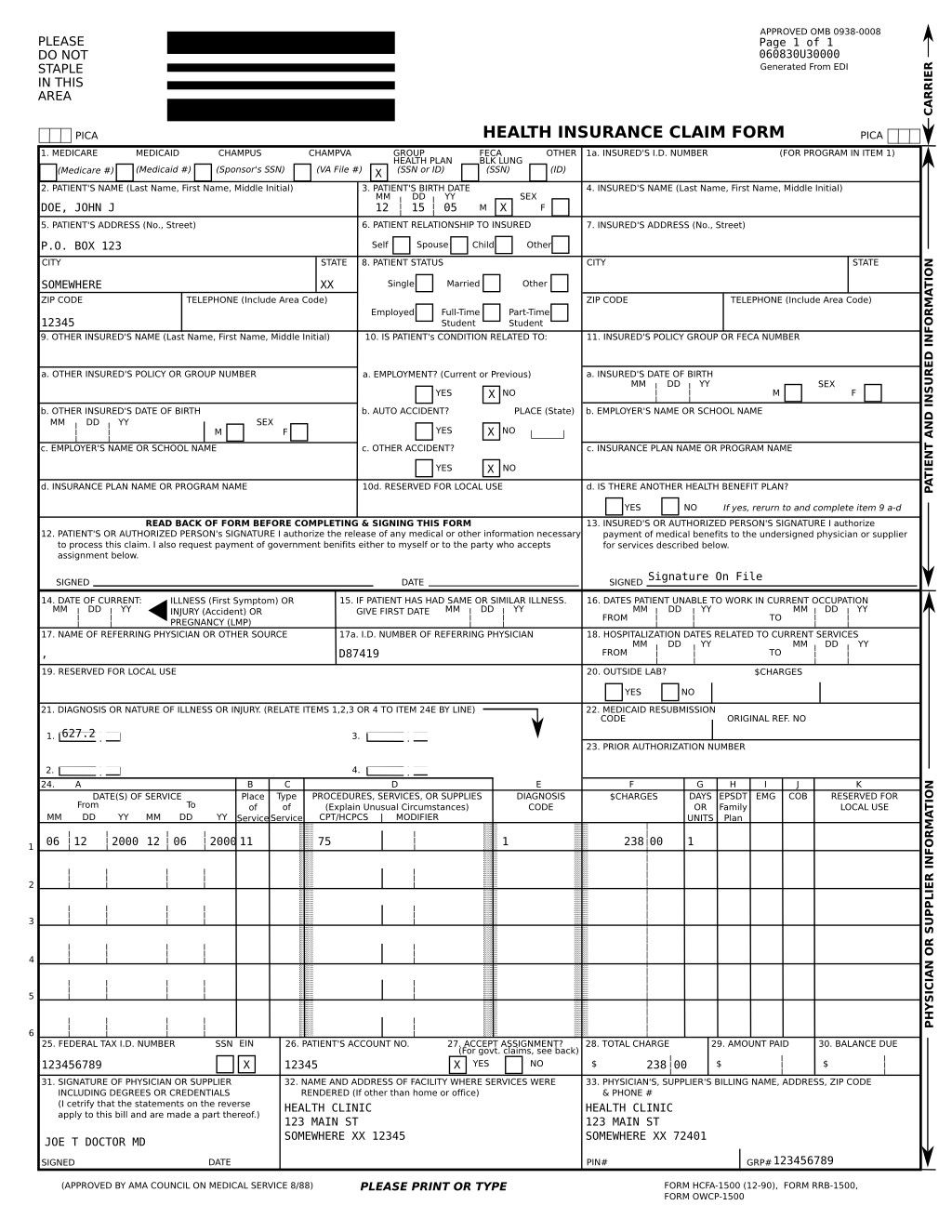 Cms 1500 Fillable Form Fillable Cms 1500 Form Fillable Forms Invoice Template Word Rental Agreement Templates
