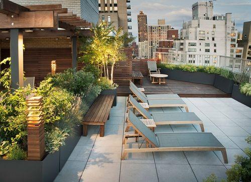Upper East Side Common Roof — Evan C. Lai Landscape Design, Inc.