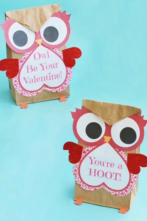 valentine owl craft free preschool crafts - 500×750