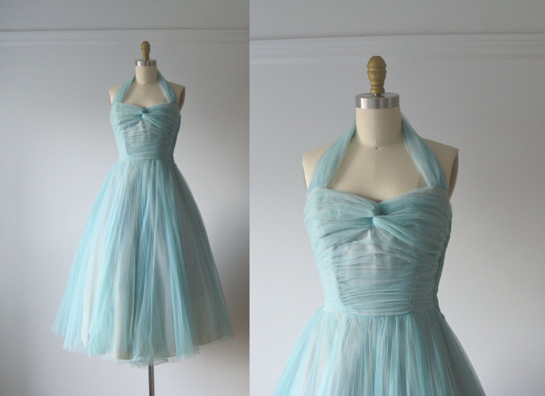 vintage 1950s prom dress / 50s party dress. $155.00, via Etsy. | 50s ...
