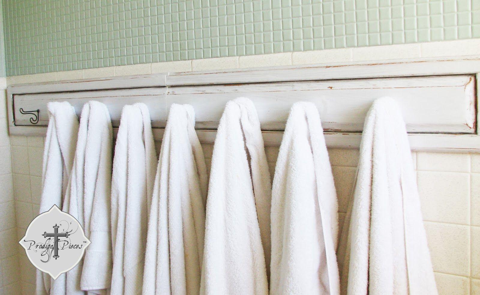 bathroom hook ideas   Rack Ideas With Towel Hook At Gray Ceramic Wall Tiled In Guys Bathroom ...