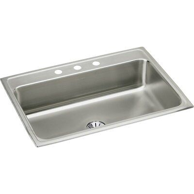 Elkay Lustertone 31 L X 22 W Drop In Kitchen Sink With Perfect