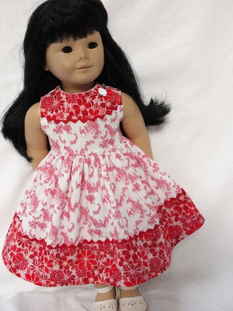 American Girl Doll Clothes  Red & White