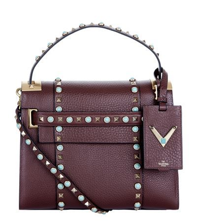 0252995d64a VALENTINO Small My Rockstud Cabochon Tote. #valentino #bags #shoulder bags  #hand bags #stone #leather #tote #