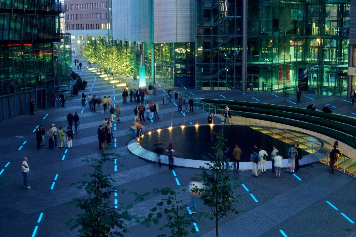 pwp landscape architecture / sony center, berlin