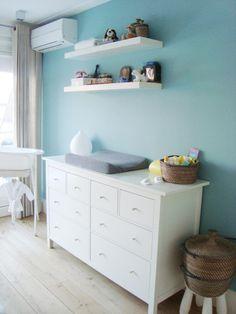babykamer muur babyblauw - google zoeken | babykamer | pinterest, Deco ideeën