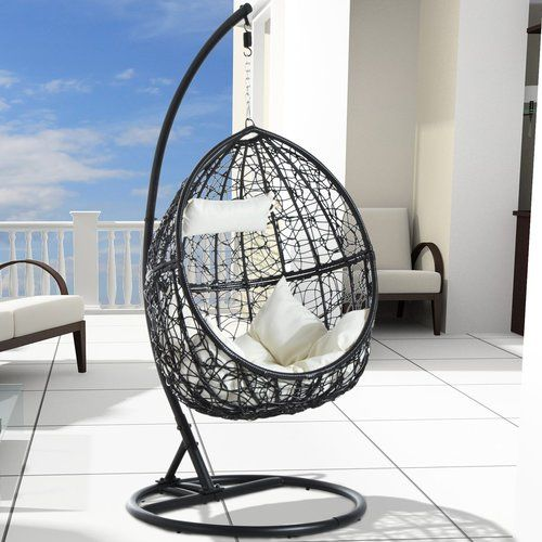 Rattan Egg Swing Seat, Outdoor Swing Chair With Stand Uk