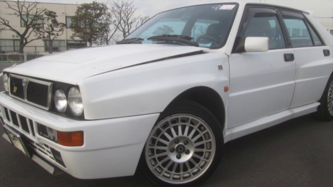 1994 Lancia Delta Integrale EvoII in white and what a