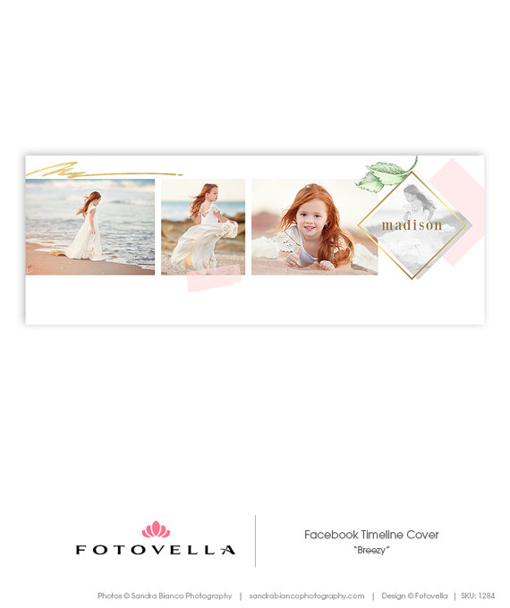 Facebook Cover Template - Photography Marketing - Breezy - 1284