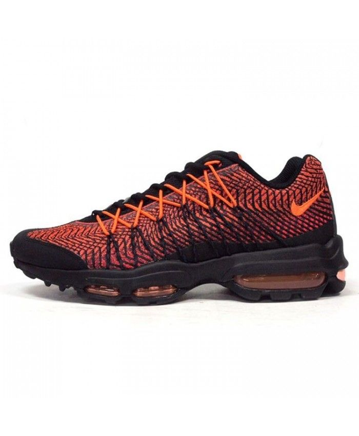 Nike Air Max 95 Ultra Jacquard Black Orange Trainers | nike air max ...