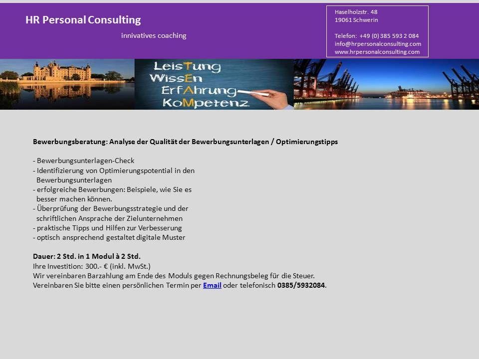 www.hrpersonalconsulting.com   Bewerbungsunterlagen