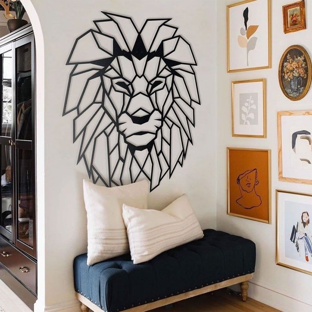 Lion Head Metal Wall Art in 2020 (With images) Metal