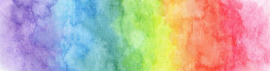 Colorful Rainbow Watercolor Background Abstract Texture