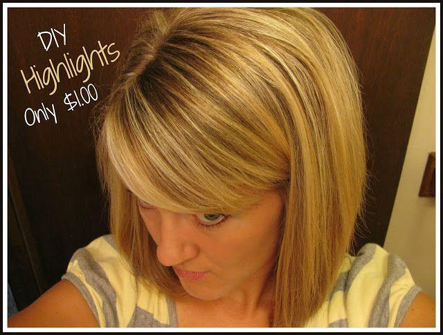 Saving Money Home Highlights Hair Diy Highlights Hair Hair