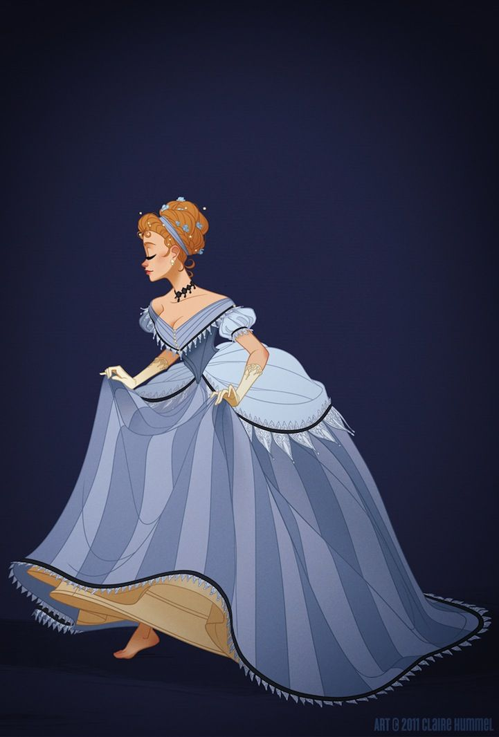 Cinderella in historically accurate garb.
