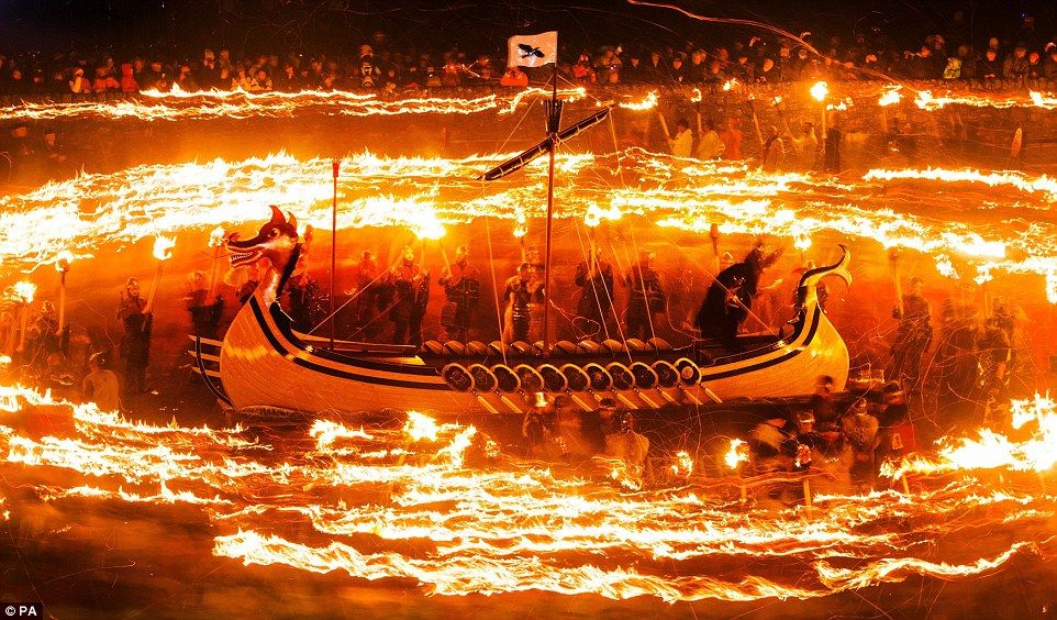 Viking & Torch Winter Festival - Shetland - Scotland http://en ...