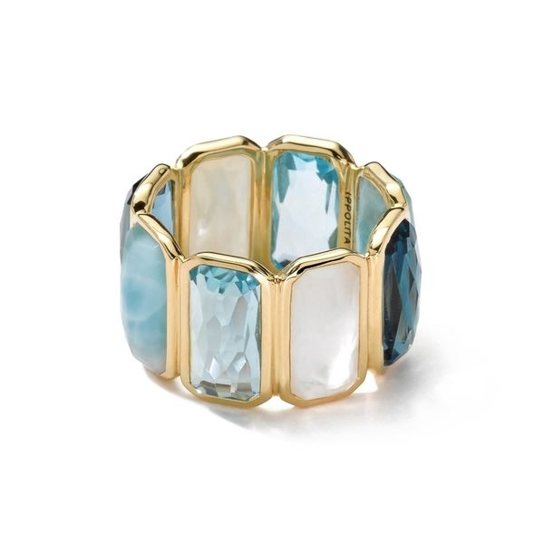 Reis-Nichols Jewelers : Ippolita 18k Gold Rock Candy Gelato Fancy Rectangle Lollipop Ring In Newport