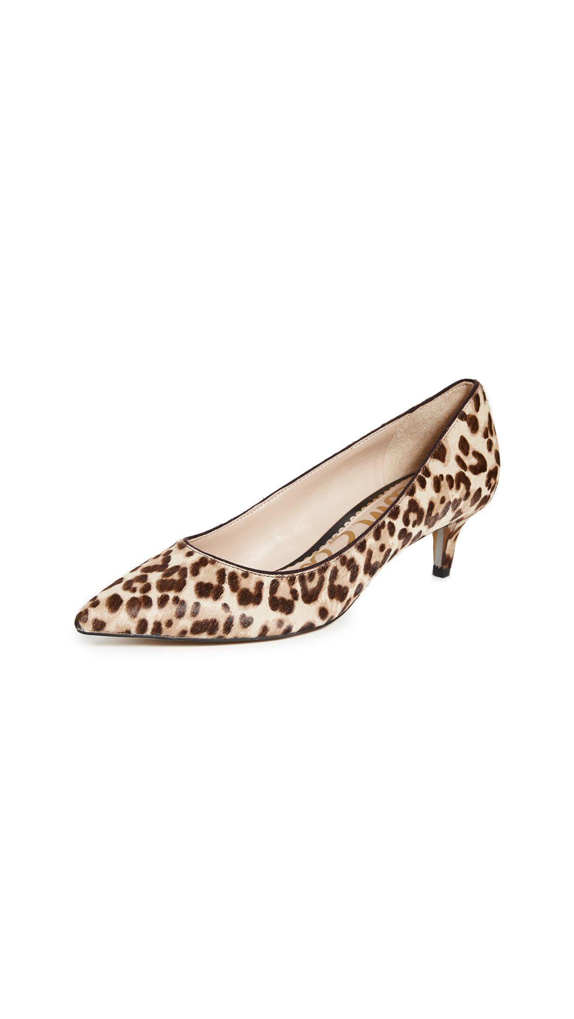 Sam Edelman Dori Leopard Print Calf Hair Kitten Heel Pumps In Sand Leopard Modesens Kitten Heel Pumps Sam Edelman Kitten Heels