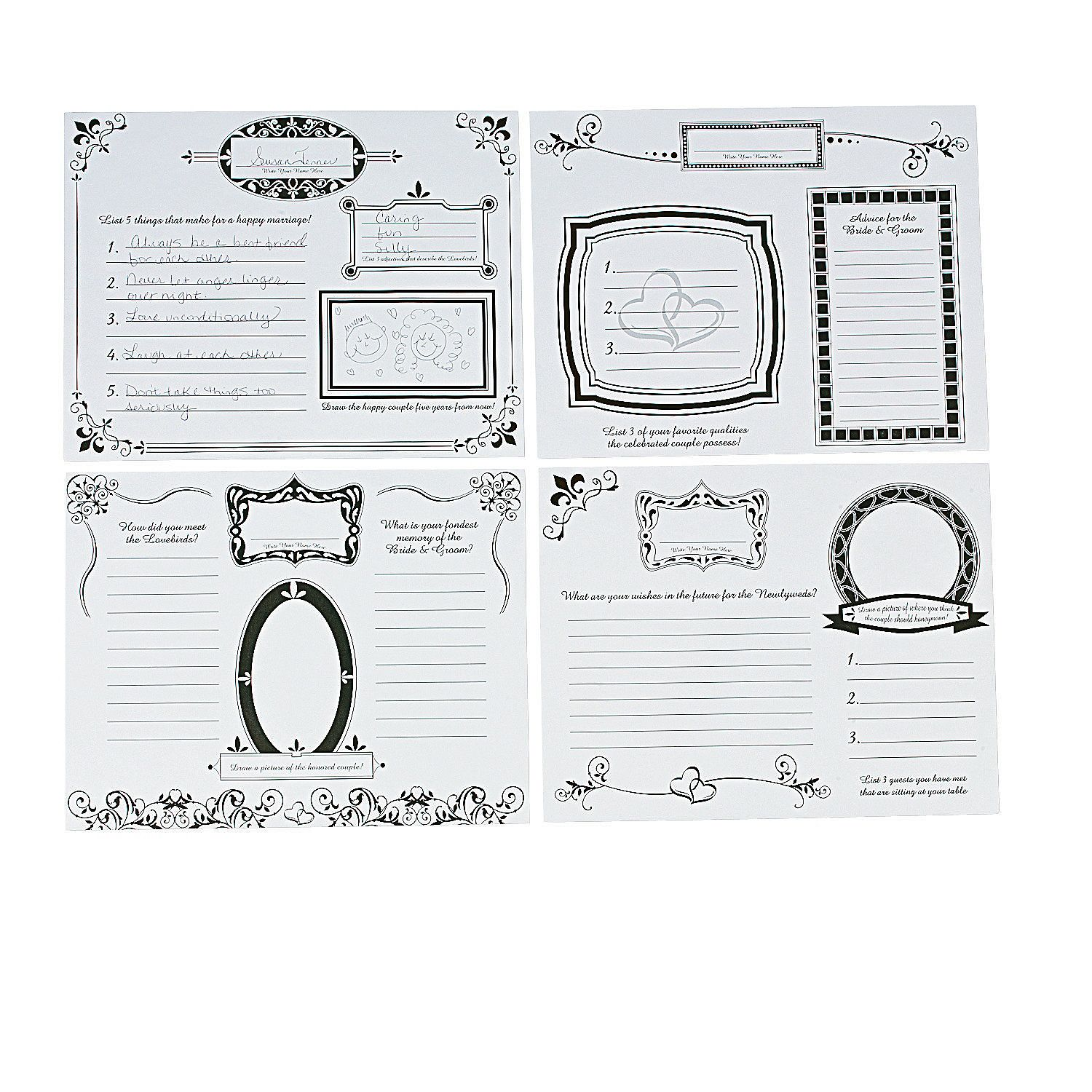 These Placemats Would Be Fun For The Shower Wedding Doodle Place Mats For Adults Orient Wedding Placemats Wedding Reception Activities Reception Activities