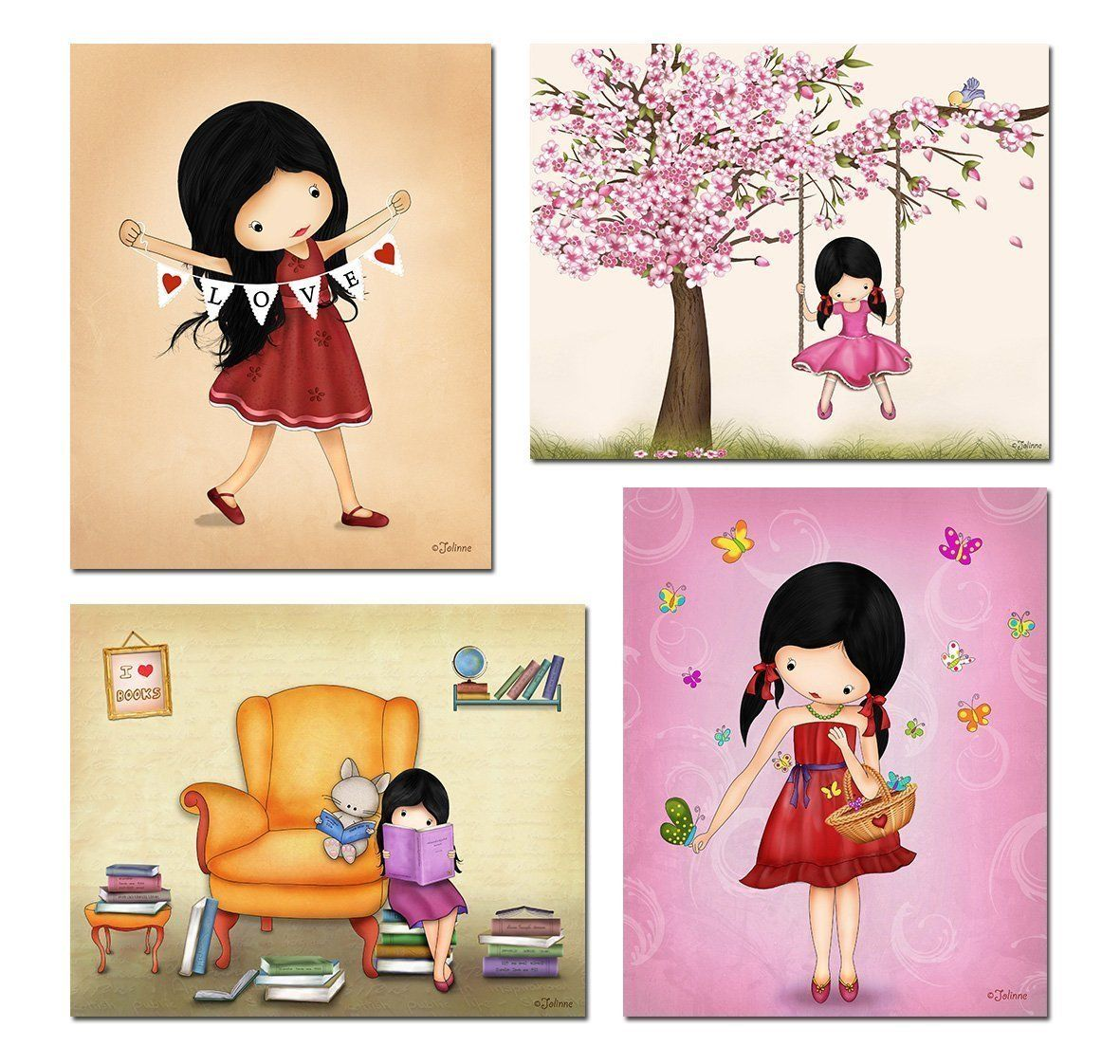 Set of posters wall decor for girls room kids bedroom artwork x