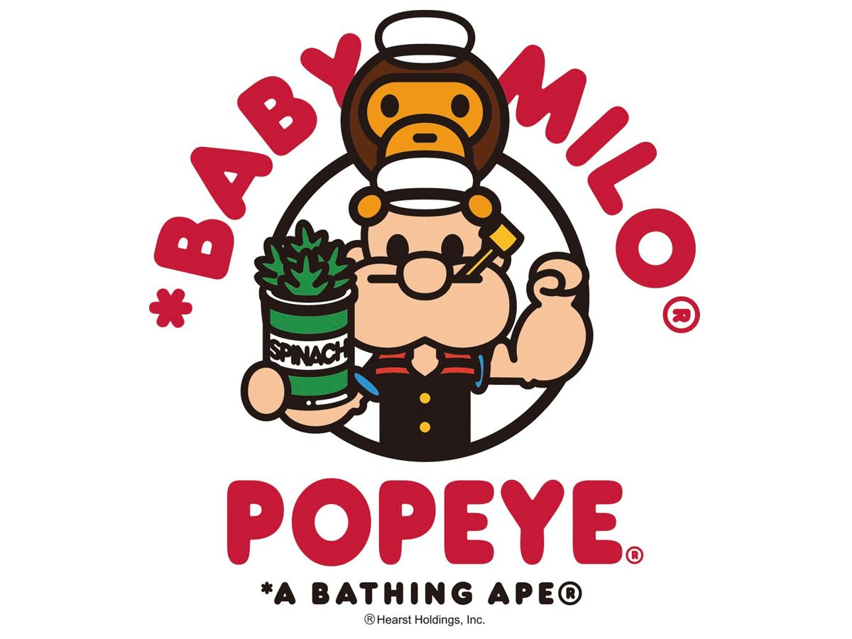 A Bathing Ape X Popeye Collaboration Collection Popeye A Bathing Ape School Art Projects