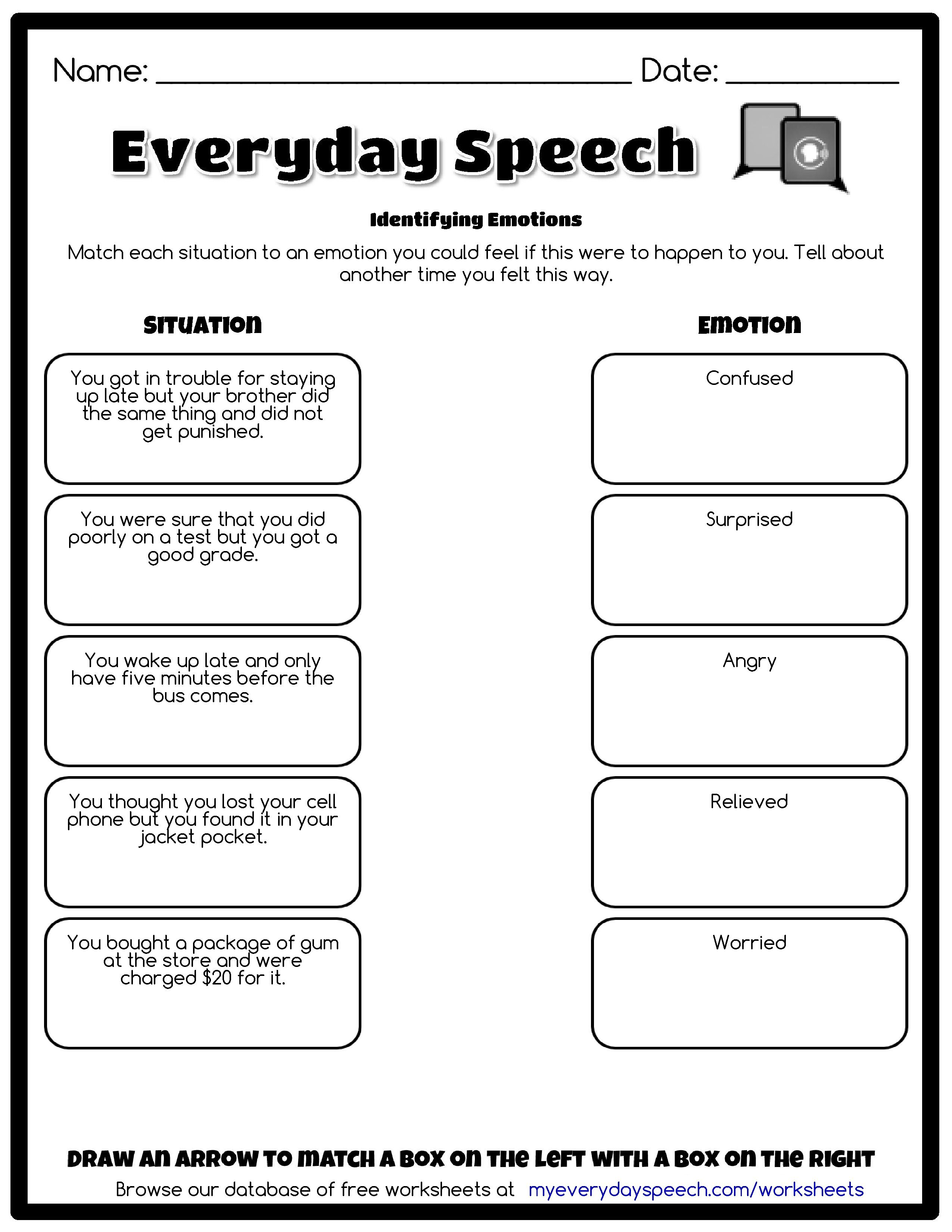 Check Out The Worksheet I Just Made Using Everyday Speech