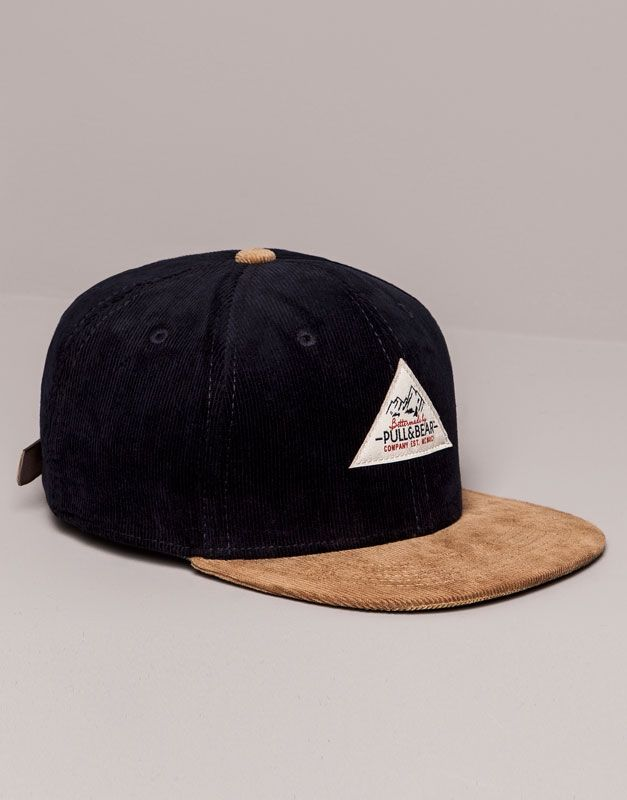 Pull Bear - man - caps   hats - cotton cap - navy - 09830524-I2014 ... a7c6a28d5e7