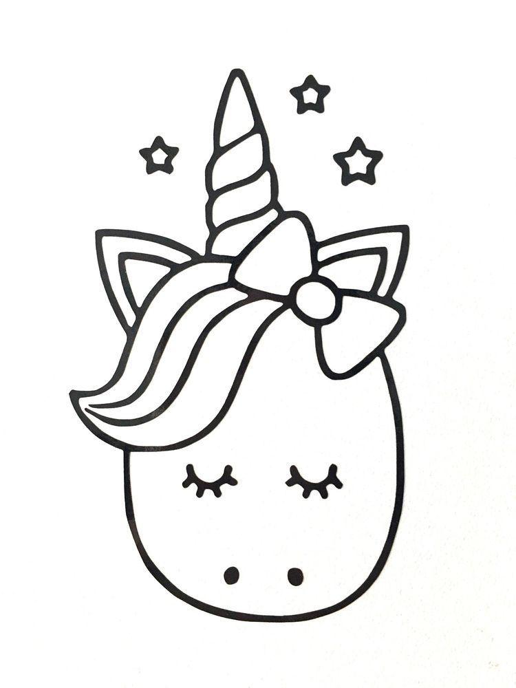 Cute Cartoon Unicorn Vinyl Decal