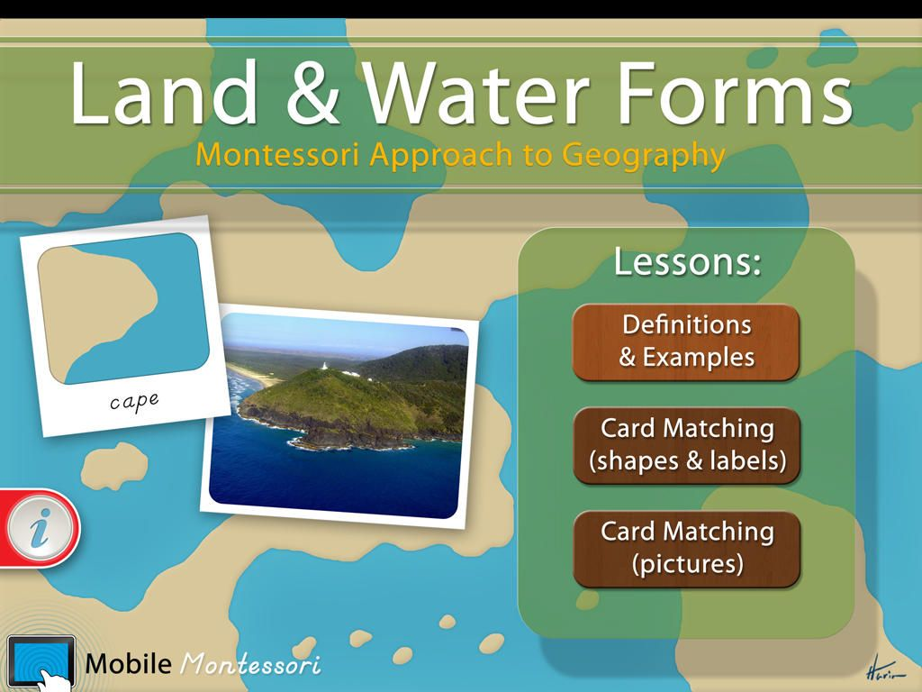 Montessori Land & Water Forms Geography lessons