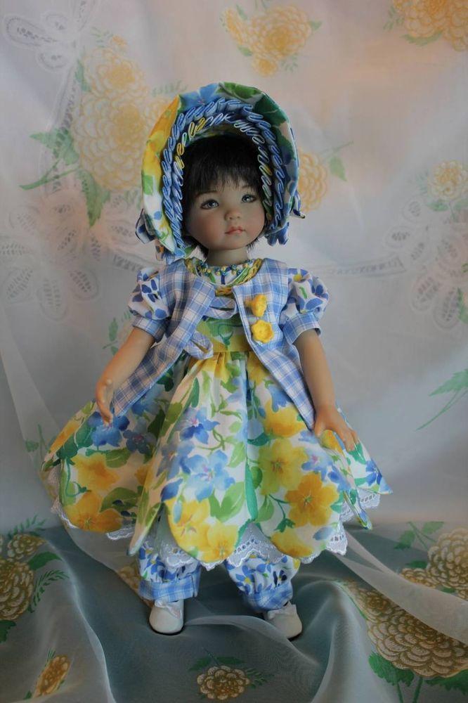 "Is It Spring Yet! Dress/Romper Ensemble for your 13"" Effner Little Darling Doll"