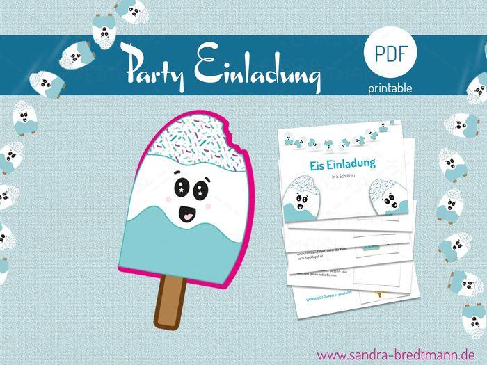 Eine Einladung Eis Zum Geburtstag Oder Der Nachsten Party Lade